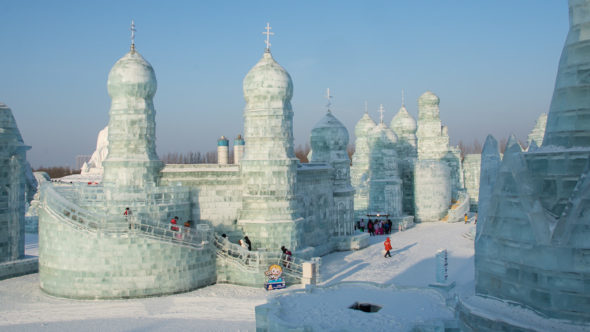 Orthodoxe Kirche in der Harbin Ice & Snow World