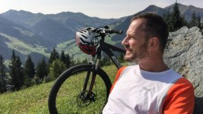 Gerhard Liebenberger am Mountainbike in Hinterglemm
