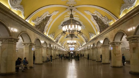 Meist fotografierte Metro Station in Moskau: Komsomolskaya