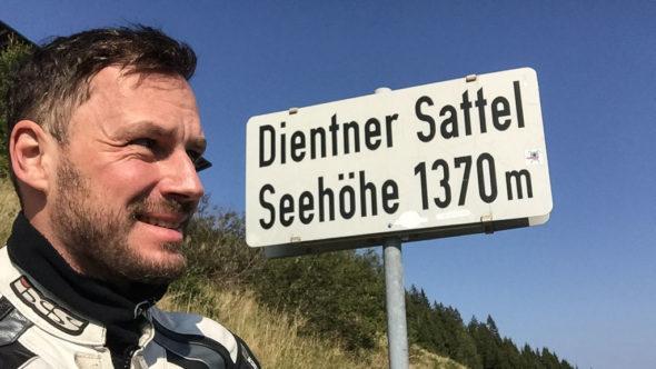 Motorradstrecke Dientner Sattel