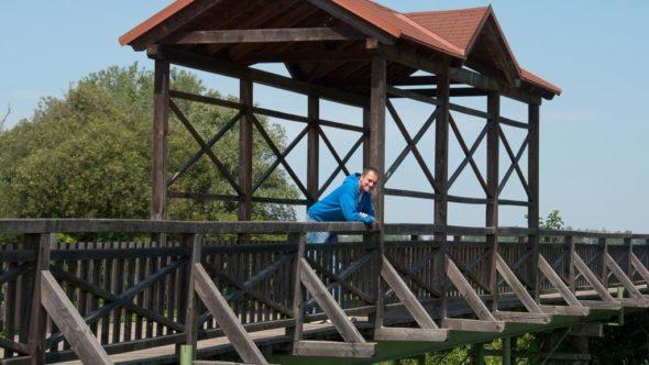 Brücke in Andau an der Grenze zwischen Österreich und Ungarn