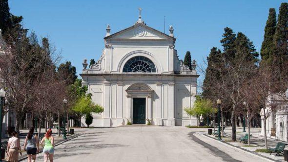 Eingang zum Cemitério dos Prazeres Friedhof in Lissabon