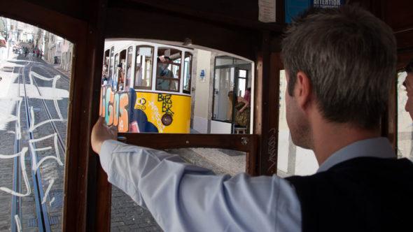 Elevador da Bica Standseilbahn in Lissabon