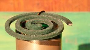 Räucherspirale als Schutz gegen Mücken