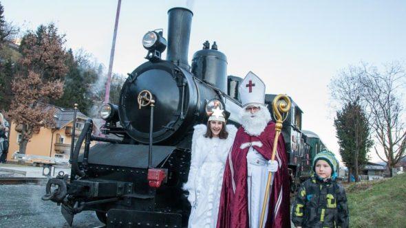 Nikolaus Dampfzug Ausflug im Pinzgau