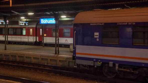 Nachtzug in Bohumin