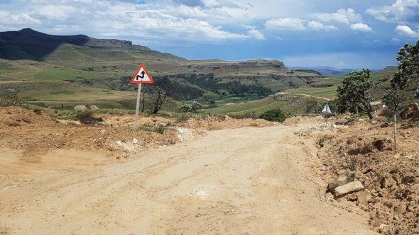 Sanipass Straße in Südafrika