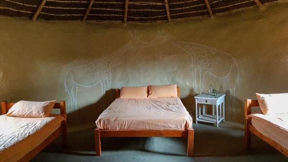 Traditionell übernachten in Südafrika im Rondavel