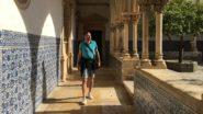 Andersreisender im Convento de Cristo Tomar