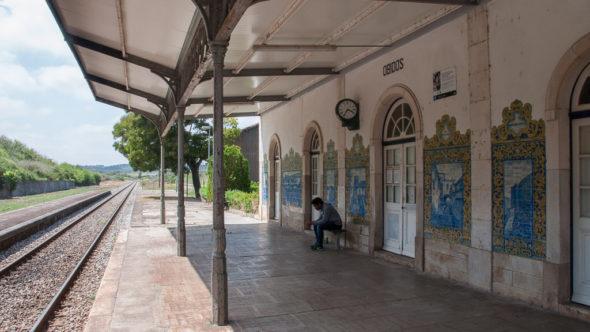 Bahnhof in Obidos