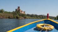 Blick vom Boot aufs Castelo del Almourol