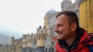 Gerhard Liebenberger beim Pena Palast in Sintra