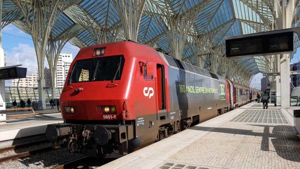 Zug von Lissabon-Oriente nach Faro