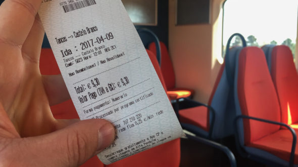 Zugticket Portugal