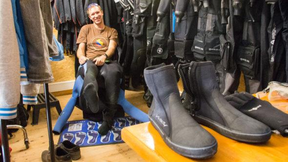 Kaltwasser Tauchen: Schuhe (Booties)