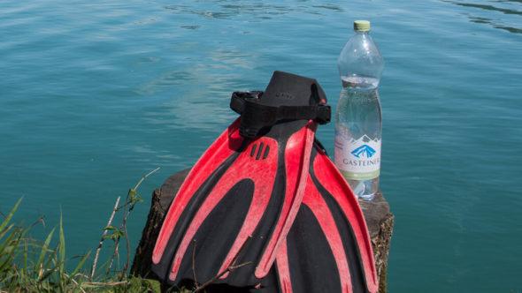 Wasser trinken ist beim Tauchen sehr wichtig