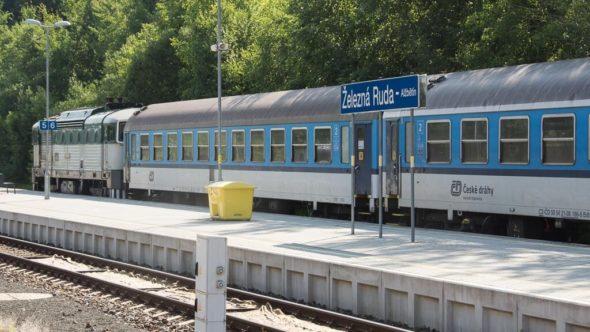 Bahnhof Bayerisch Eisenstein / Železná Ruda-Alžbětín