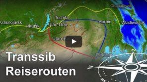 Transsibirische Eisenbahn Routen Video