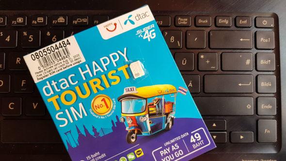 dtac Happy Tourist SIM Karte für Thailand