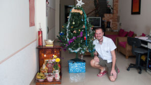 Andersreisender Weihnachten in Vietnam