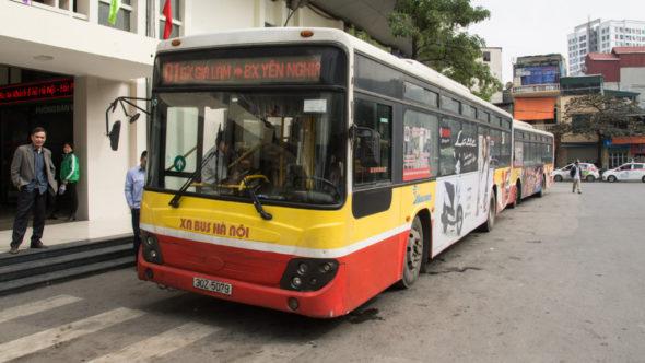 Bus von Gia Lam nach Hanoi Altstadt und Hauptbahnhof