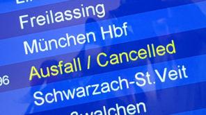 Zug Ausfall - cancelled