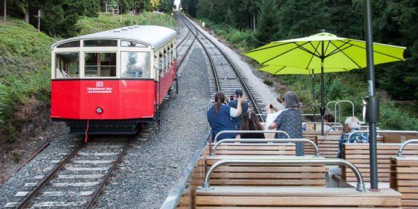 Eisenbahn-Cabrio im Thüringer Wald