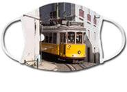Mund-Nasen-Schutz Straßenbahn Lissabon