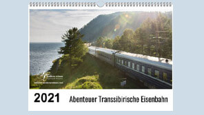 Transsibirische Eisenbahn Wandkalender 2021