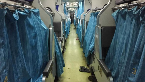 Nachtzug Thailand 2. Klasse