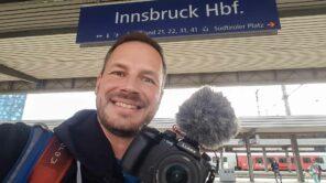 Gerhard Liebenberger in Innsbruck Hauptbahnhof