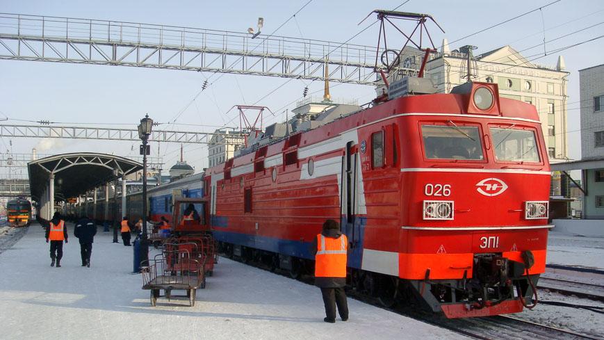 Bild: Lokomotive der Transsibirischen Eisenbahn