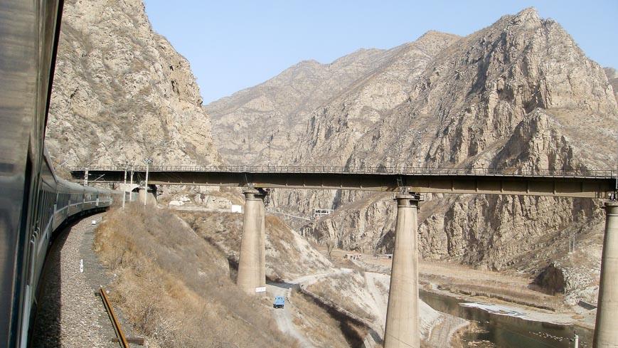 Bild: Transmongolische Eisenbahn in China