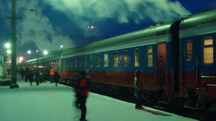 Bild: Transsibirische Eisenbahn im Winter