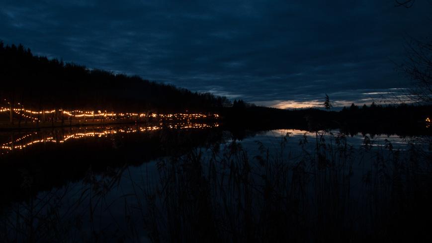 Bild: Holzöstersee bei Nacht