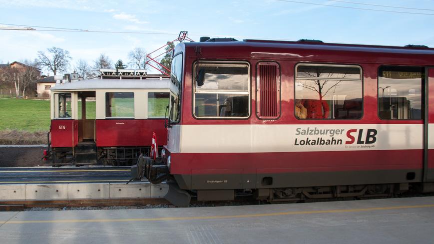 Bild: Salzburger Lokalbahn in Ostermiething